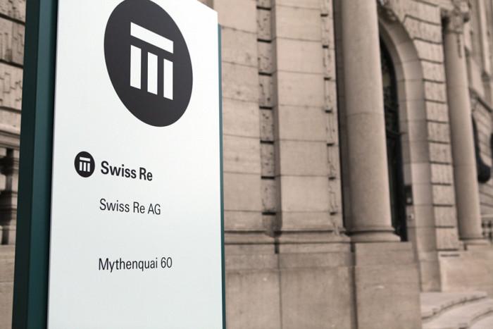 Swiss Re – Firmenschild