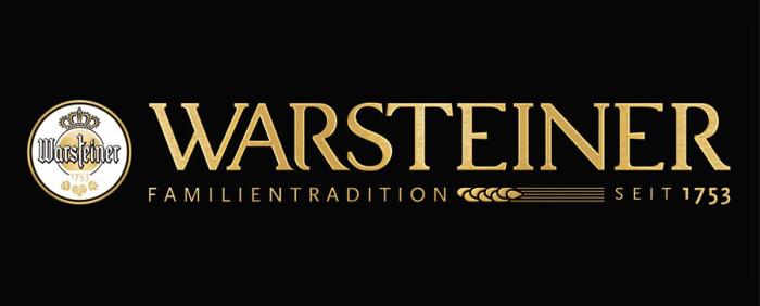 Warsteiner – Logo quer metallisch