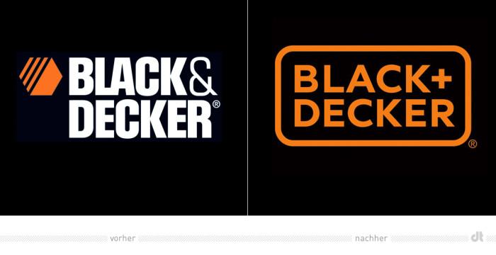 Black + Decker Logo – vorher und nachher