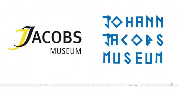 Johann Jacobs Museum – Logo vorher und nachher