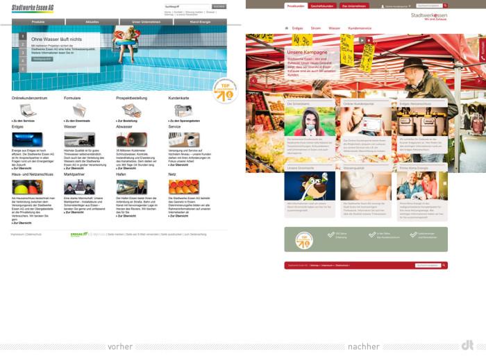 Website der Stadtwerke Essen
