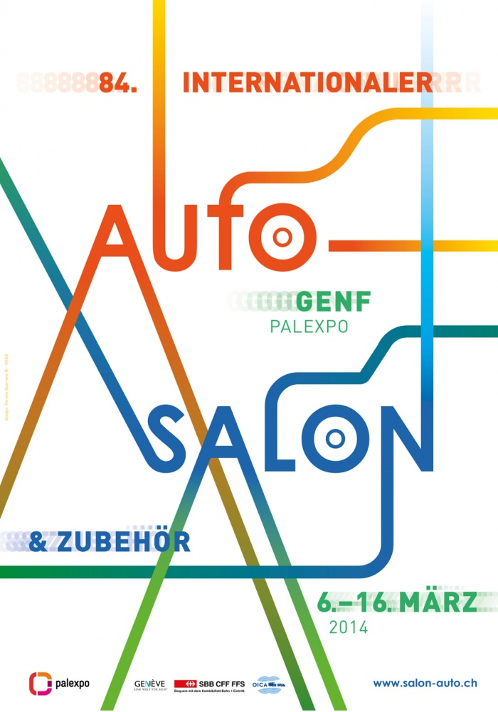 Plakat zum 84. Auto-Salon in Genf