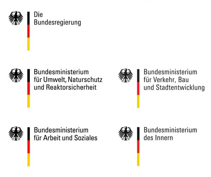 Bundesregierung – Logos der Ministerien