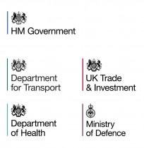 Regierung England – Logos der Ministerien