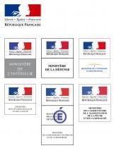 Regierung Frankreich – Logos der Ministerien