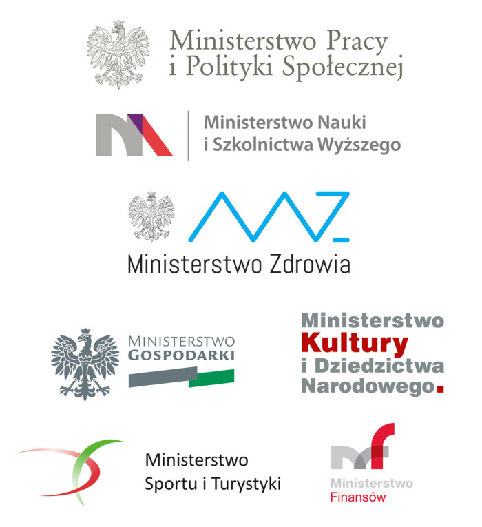 Regierung Polen – Logos der Ministerien