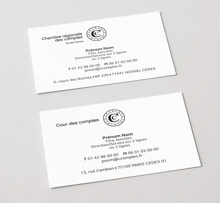 Cour des Comptes – Visitenkarten