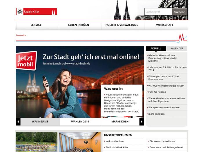 Stadt Köln Website
