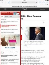 Time.com auf dem iPad