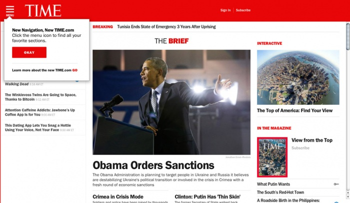 time.com Relaunch