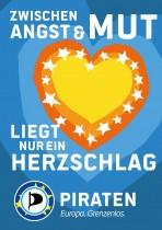 Piratenpartei – Plakat Herzschlag