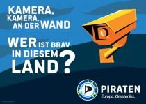 Piratenpartei – Plakat Kamera