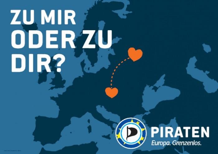"""Piratenpartei – Plakat """"zu mir"""""""