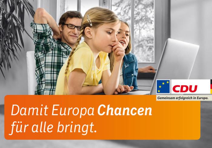 Europawahl 2014 – CDU Großplakat Chancen