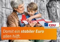Europawahl 2014 – CDU Großplakat Euro