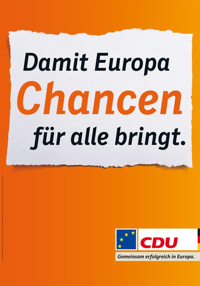Europawahl 2014 – CDU Plakat Chancen