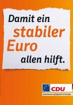 Europawahl 2014 – CDU Plakat Euro