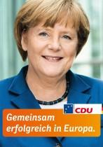 Europawahl 2014 – CDU Plakat Merkel