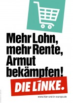 Europawahl 2014 – Die Linke – Lohn, Rente, Armut