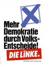Europawahl 2014 – Die Linke – Volksentscheide