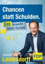 Europawahl 2014 – FDP Plakat Alexaner Graf Lambsdorff