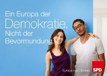 Europawahl 2014 – SPD Plakat Demokratie