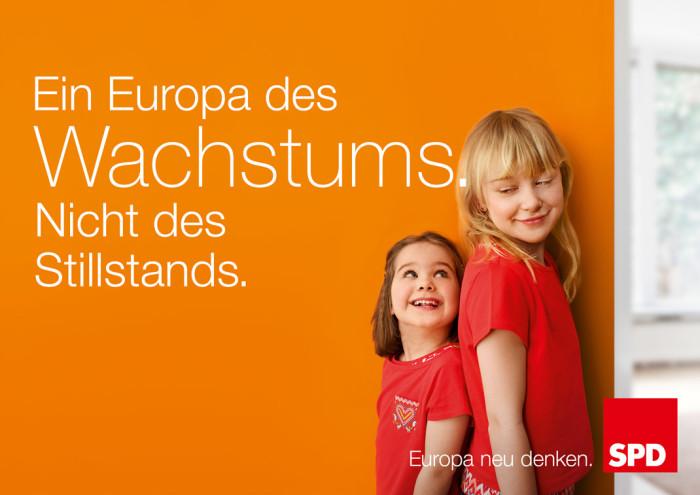 """Europawahl 2014 –"""" SPD Plakat Wachstum"""