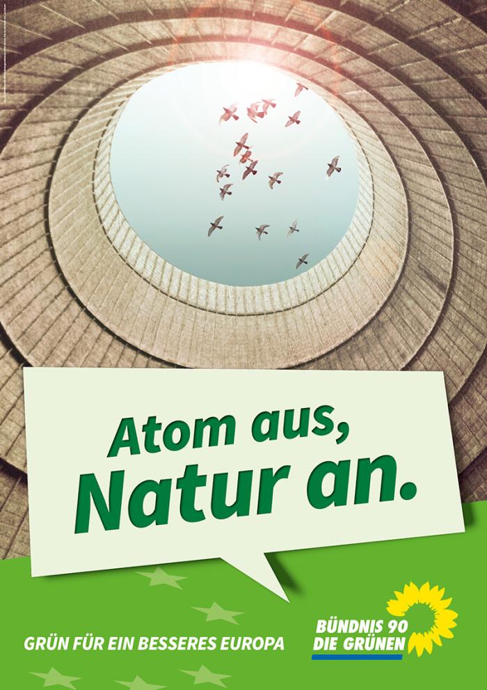 Die Grünen – Plakat Atom