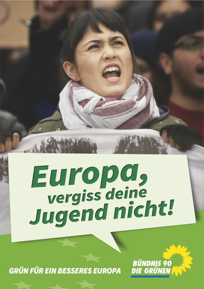 Die Grünen – Plakat Jugendarbeitslosigkeit