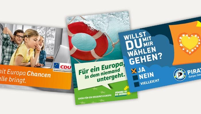 Die Plakate zur Europawahl 2014 – Teil 1