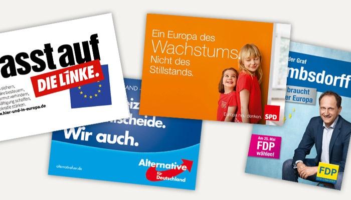 Die Plakate zur Europawahl 2014 – Teil 2