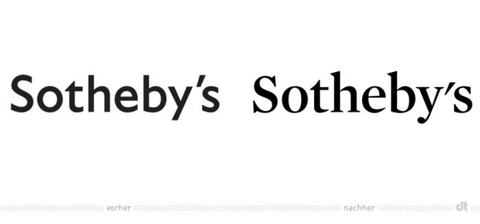 Sotheby's Logo – vorher und nachher