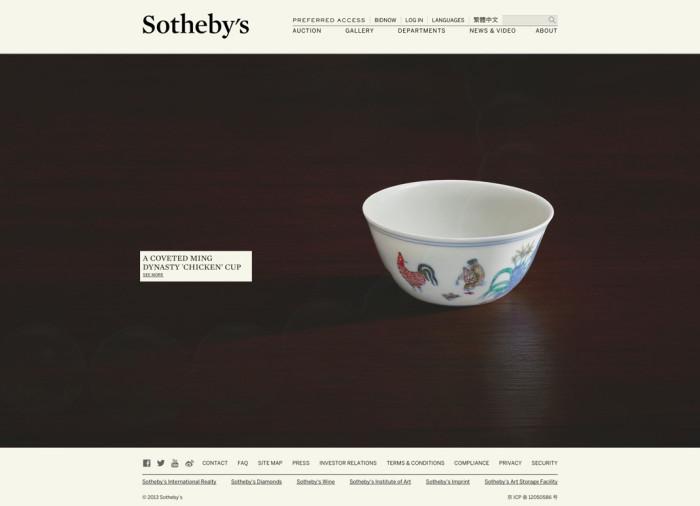 Sotheby's Website