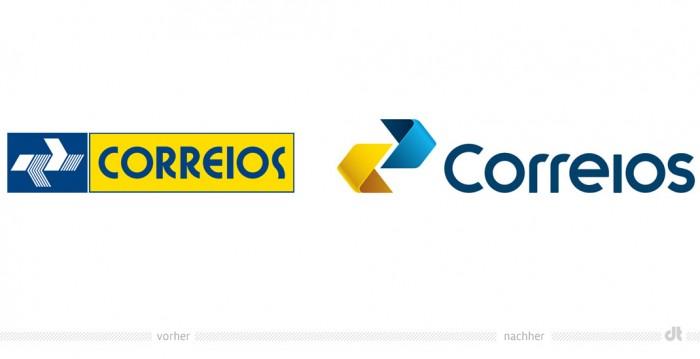 Correios Brasil – Logo – vorher und nachher