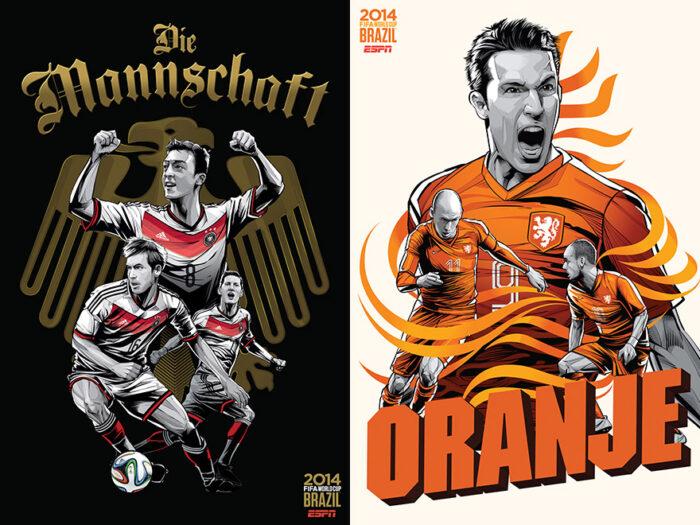 32 Poster zur FIFA-Weltmeisterschaft in Brasilien