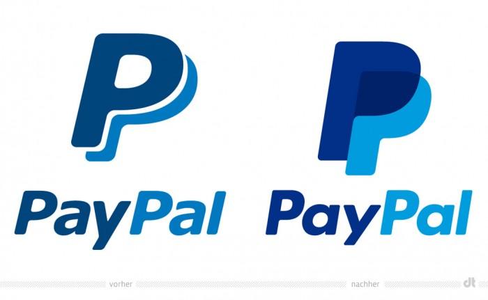 PayPal Logo – vorher und nachher
