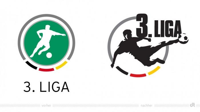 Logo der 3. Liga – vorher und nachher