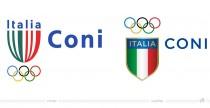 CONI Italia Logo – vorher und nachher