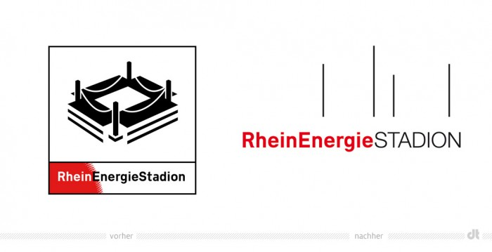 RheinEnergieStadion Logo – vorher und nachher
