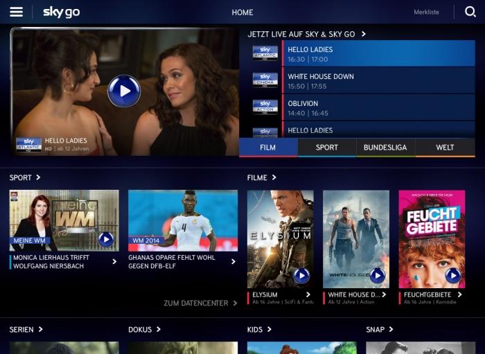 Sky Go iPad App