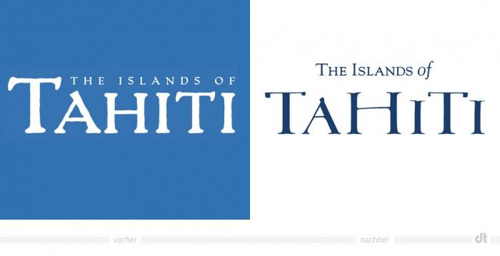 Tahiti Logo – vorher und nachher