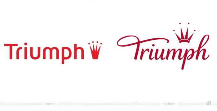 Triumph Logo – vorher und nachher