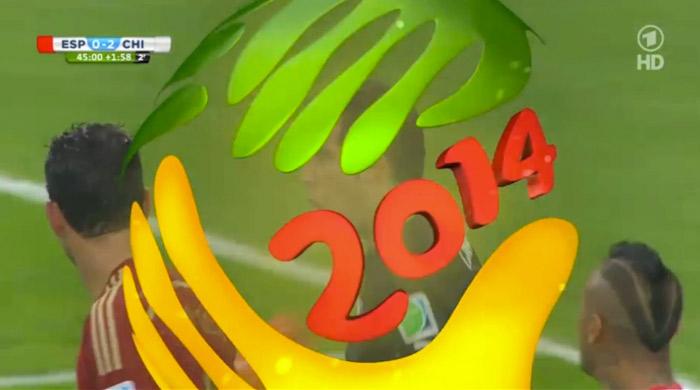 On-Air-Design zur Fußball-WM in Brasilien 2014