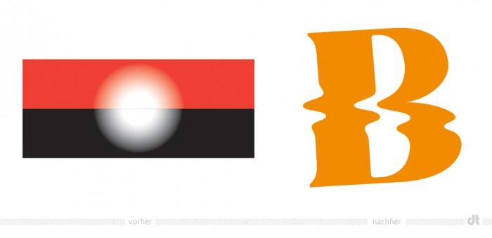 Bregenzer Festspiele Logo – vorher und nacher