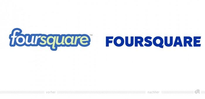 Foursquare App Logo – vorher und nachher