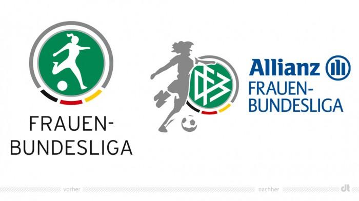 Logo der Frauenfußball-Bundesliga – vorher und nachher