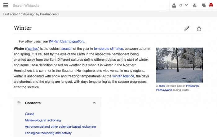 Wikipedia Tabletversion (aktuell)