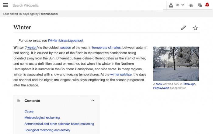 Wikipedia Tabletversion (aktuell)
