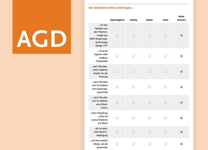 AGD-Umfrage: Wie kalkulieren selbstständige Designer?