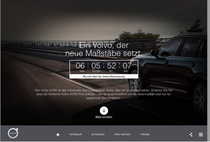 Website: Der neue Volvo XC90